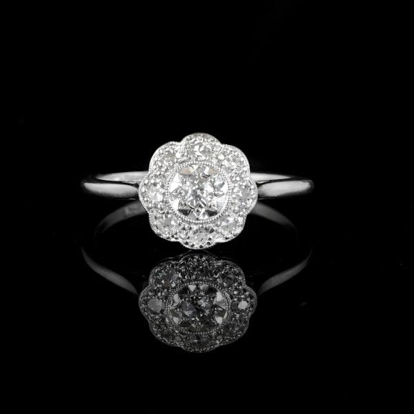 A Platinum Daisy Diamond Cluster ring - image 1