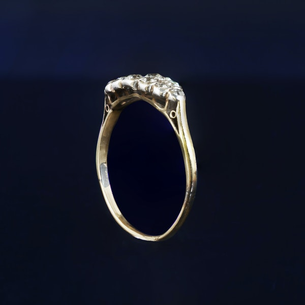 A Platinum two row Diamond Boat ring - image 2