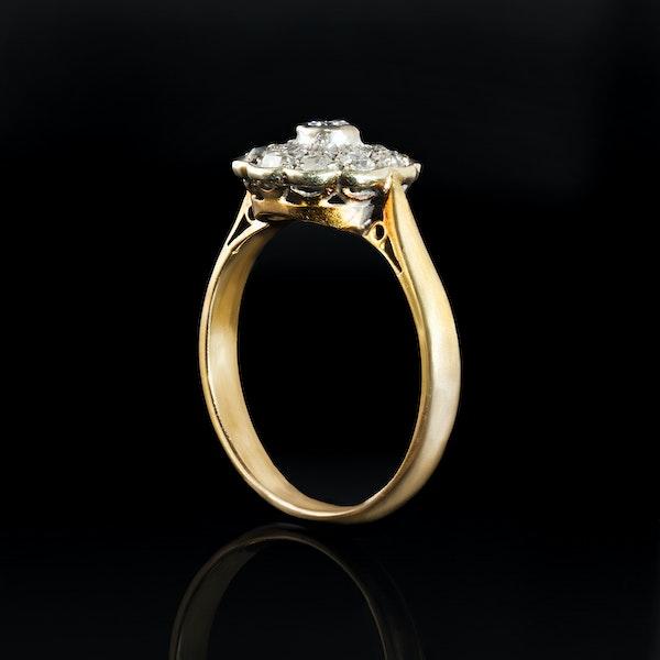 A Platinum Diamond Daisy ring - image 2