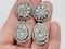Fine 18th century Black dot paste drop earrings  sku 4856  DBGEMS - image 3