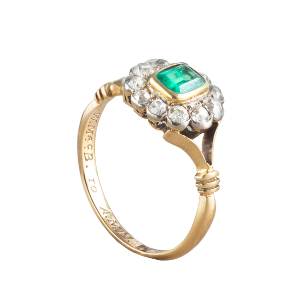 An Emerald and Diamond Halo ring - image 2