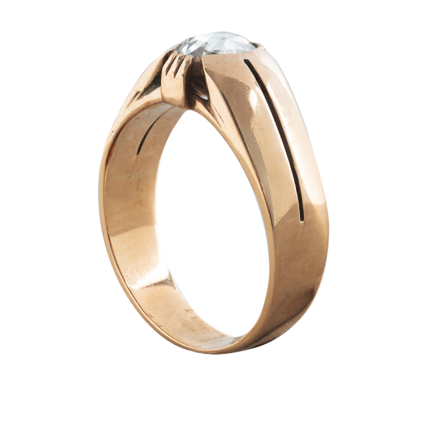 A Solitaire Rose Diamond ring - image 2