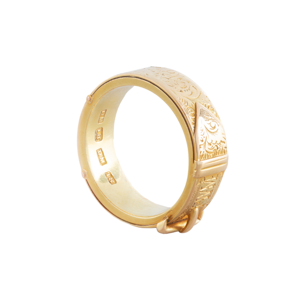 A Gold Buckle ring - image 2