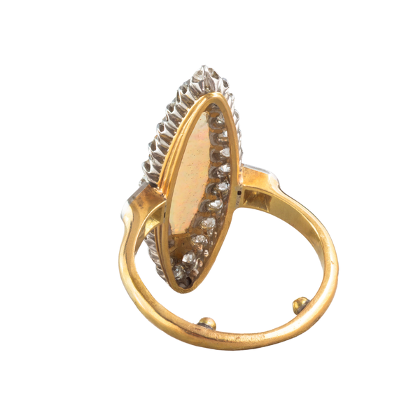 A French Opal and Diamond Marquise ring - image 2