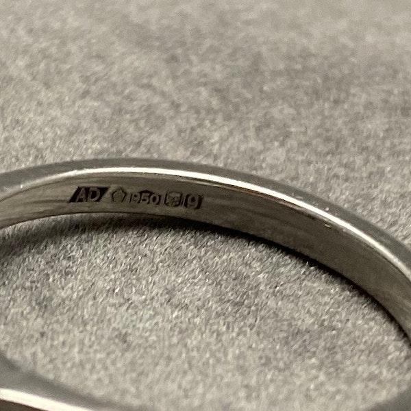 Diamond Ring in Platinum Oval Cut Diamond 0.70ct date London 2006 SHAPIRO & Co since1979 - image 9