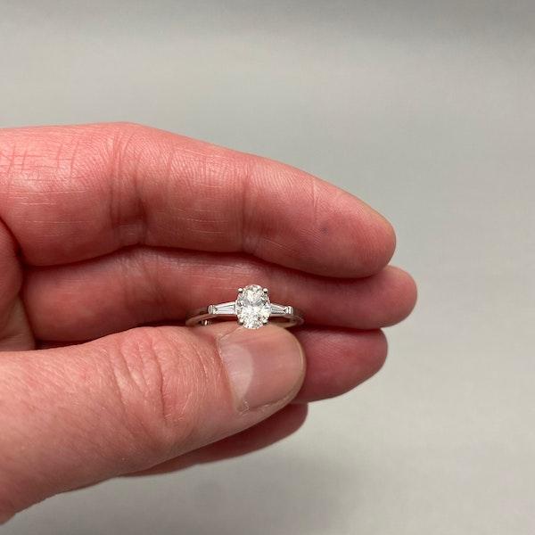 Diamond Ring in Platinum Oval Cut Diamond 0.70ct date London 2006 SHAPIRO & Co since1979 - image 4