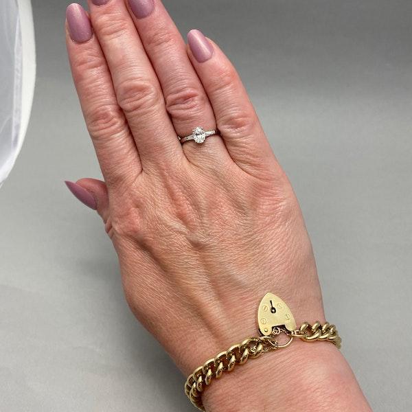 Diamond Ring in Platinum Oval Cut Diamond 0.70ct date London 2006 SHAPIRO & Co since1979 - image 11