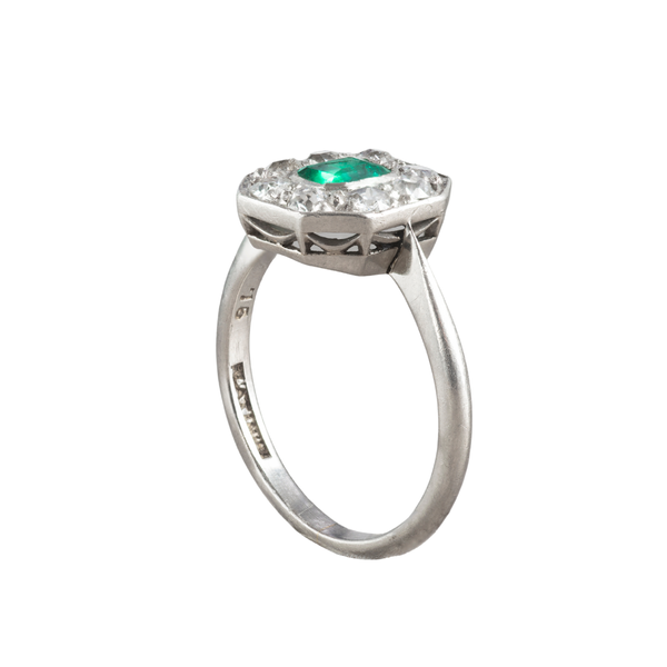 An Antique Emerald and Diamond ring - image 2