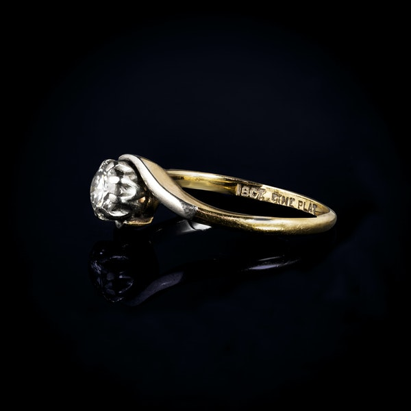 An Antique one stone Diamond ring - image 2