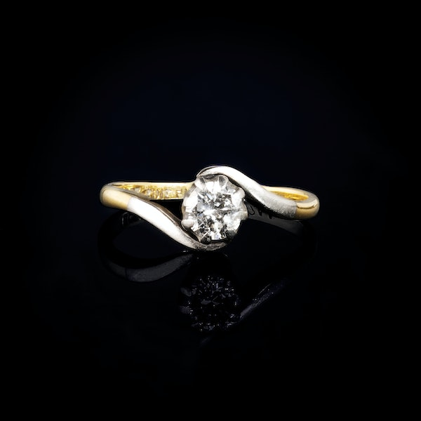 An Antique one stone Diamond ring - image 1