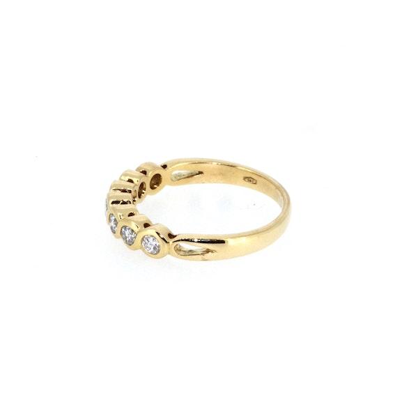 Modern Seven Stone Half Eternity Ring. S.Greenstein - image 2