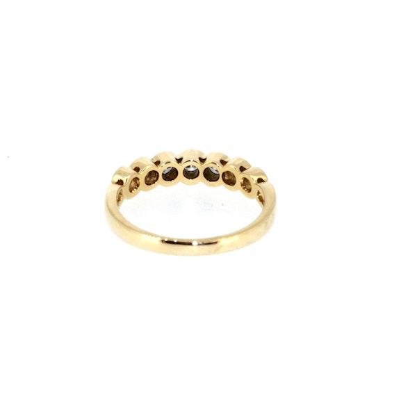 Modern Seven Stone Half Eternity Ring. S.Greenstein - image 3
