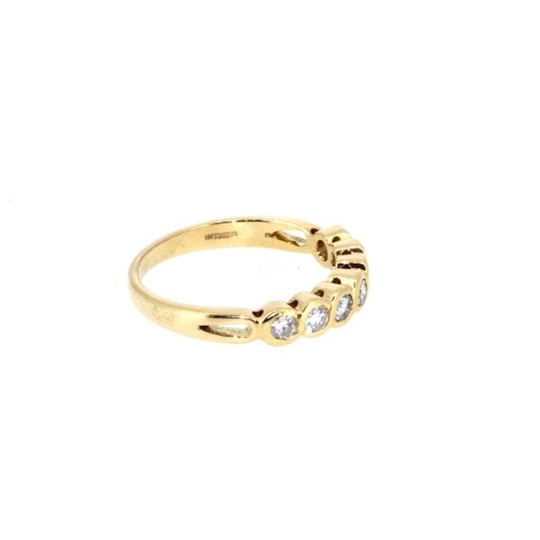 Modern Seven Stone Half Eternity Ring. S.Greenstein - image 4