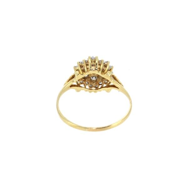 Diamond Cluster Ring. S.Greenstein - image 3
