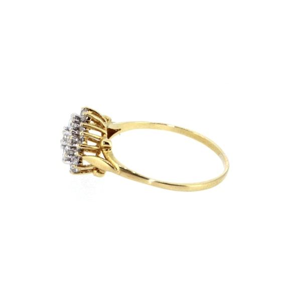 Diamond Cluster Ring. S.Greenstein - image 2