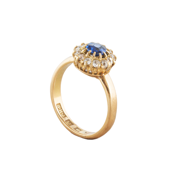 A Sapphire and Diamond Cluster ring - image 2