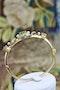 A very fine Peridot, Diamond and Pearl Bangle mounted in 15ct Yellow Gold, English, Circa 1905 - image 5