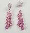 Pink sapphire and diamond drop earrings sku 4859  DBGEMS - image 3