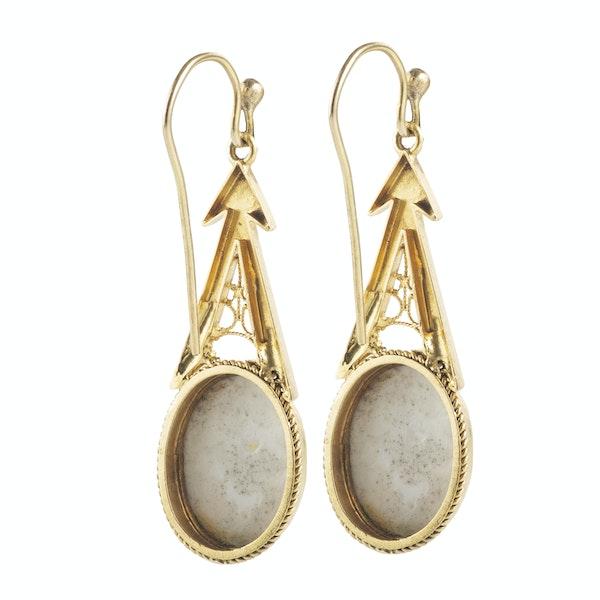 A pair of Cherub Gold Drop Earrings - image 2