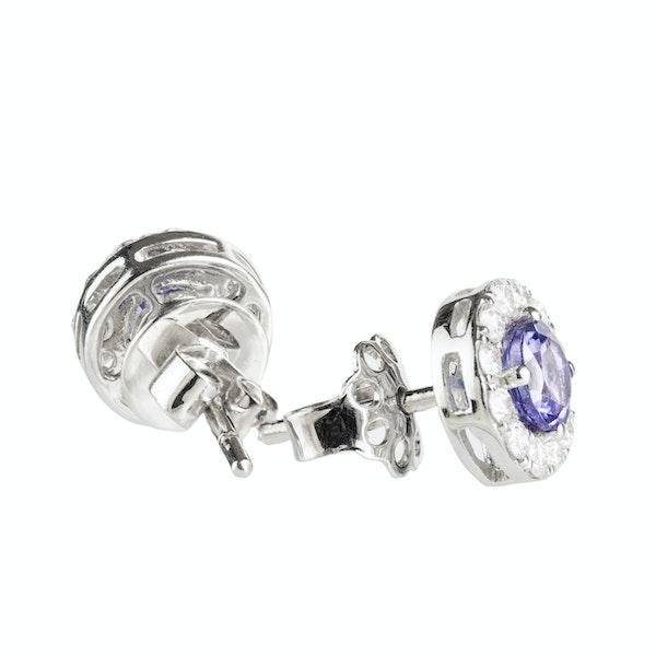 A pair of Tanzanite and Diamond Earrings - image 1