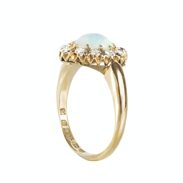 An Opal and Diamond Heart Ring - image 2