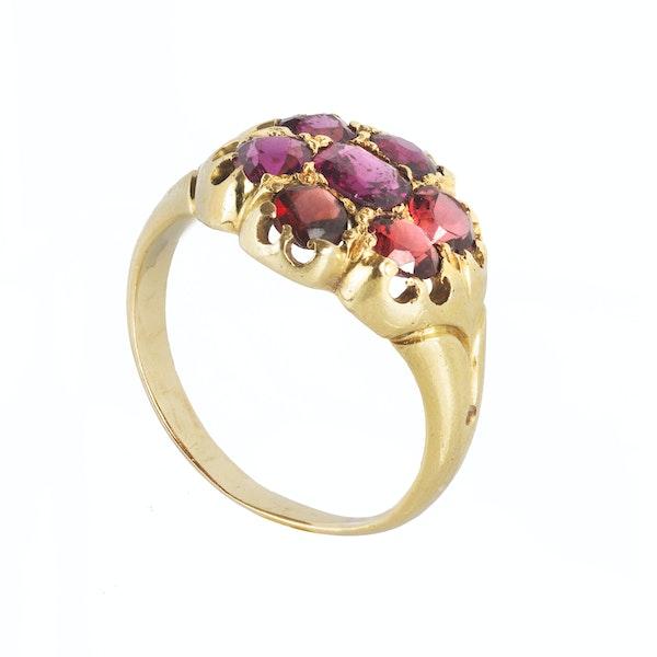 A Gold Garnet ring - image 2