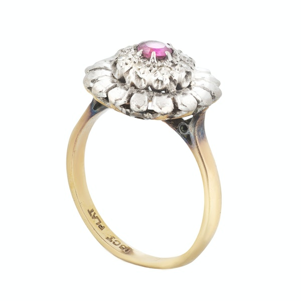 A Diamond, Ruby, Platinum and Gold ring - image 2