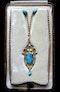 Archibald Knox for Liberty & Co. An Arts & Crafts / Art Nouveau Gold turquoise pendant. Circa 1900. - image 3