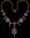 Liberty & Co. An Arts & Crafts delicate gold necklace set  amethysts. 1906 / 1907. - image 1
