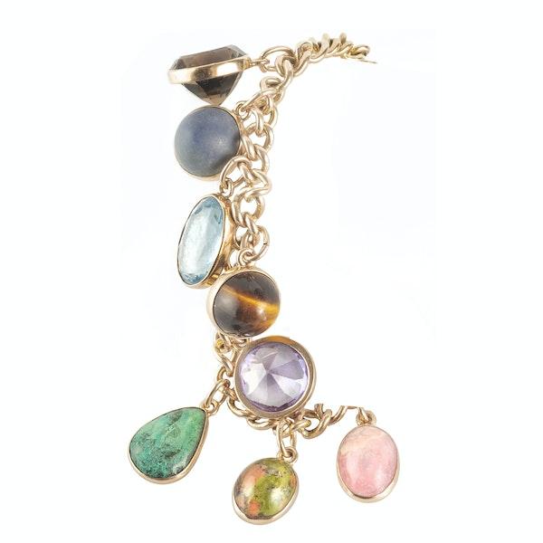 A Multi Stone Nine Carat Gold Bracelet - image 2