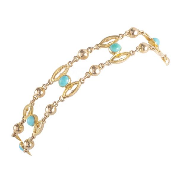A Turquoise Gold Bracelet - image 2