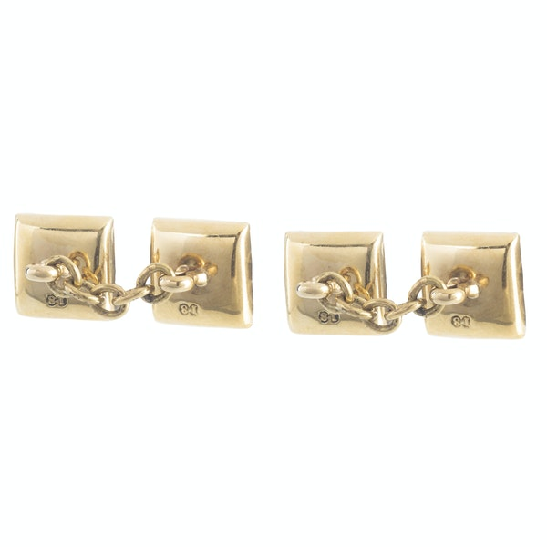 A pair of Square Pearl and Diamond cufflinks - image 2