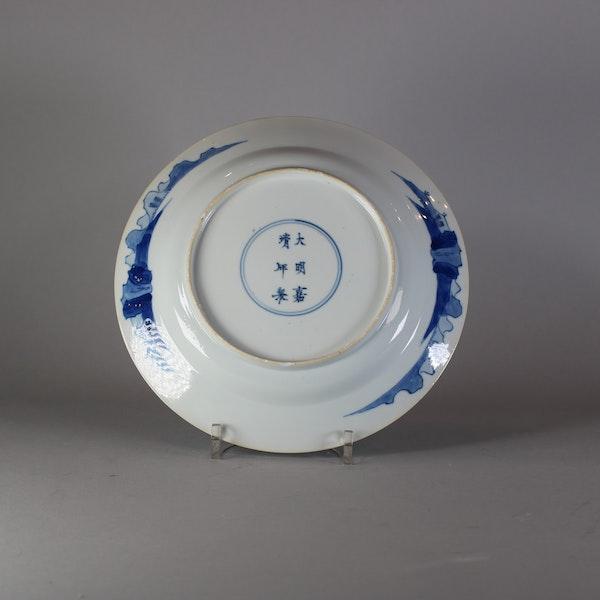 Chinese blue and white long Eliza plate, Kangxi (1662-1722) - image 2