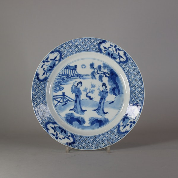 Chinese blue and white long Eliza plate, Kangxi (1662-1722) - image 1