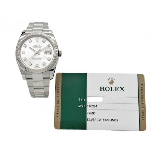 ROLEX DATEJUST SILVER DIAMONDS - image 6