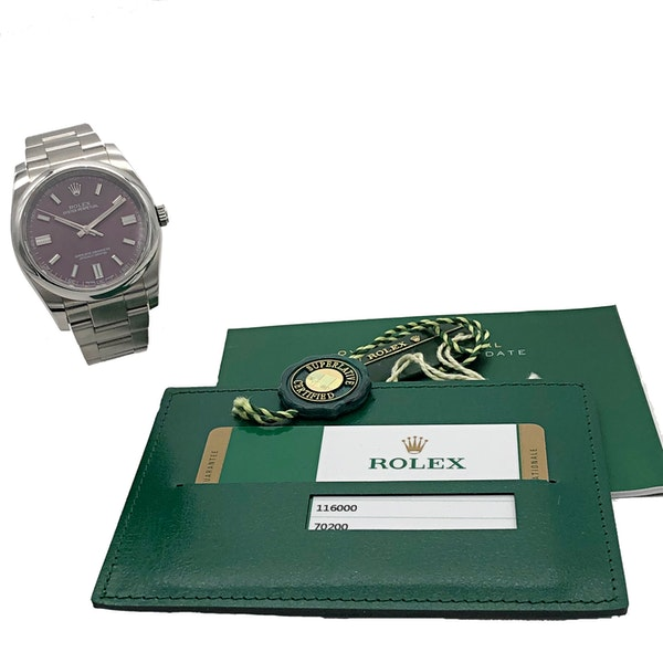 ROLEX OYSTER PERPETUAL RED GRAPE - image 6
