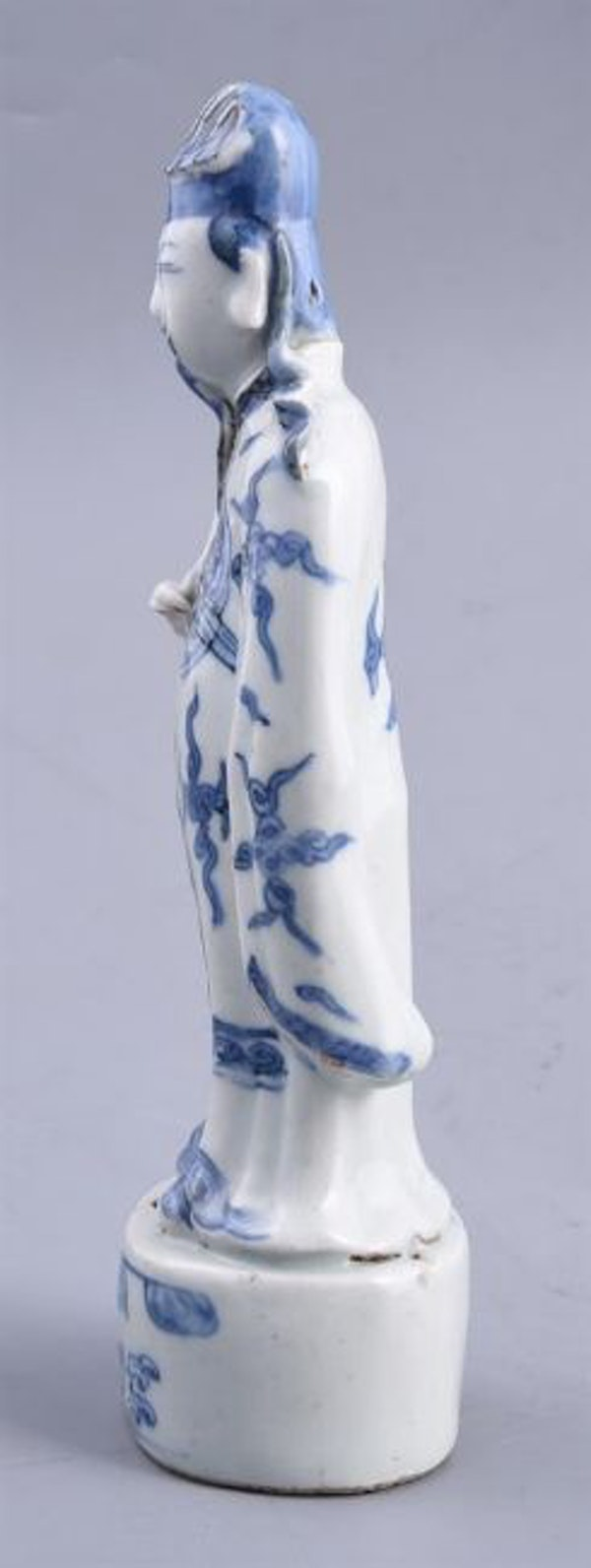 Chinese blue and white figure of Zhongli Quan, Ming (1368 – 1644), late 16th/early 17th century - image 3