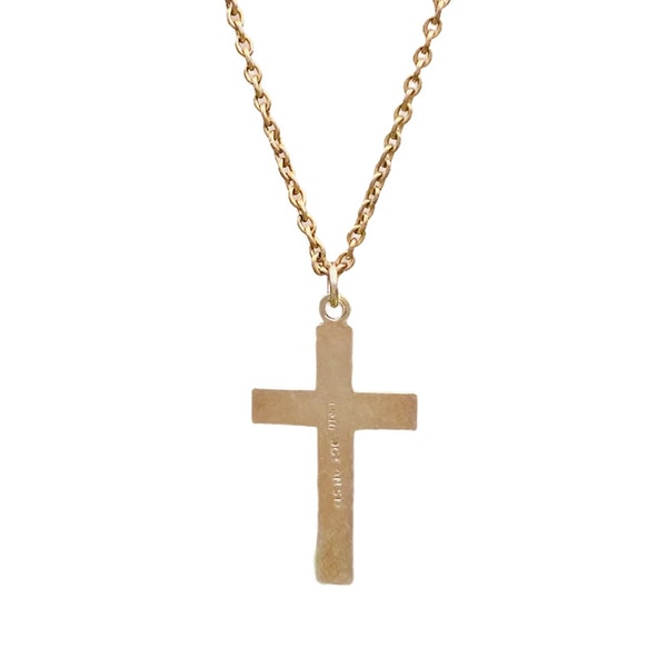 A Nine Carat Gold Cross and Chain - image 3