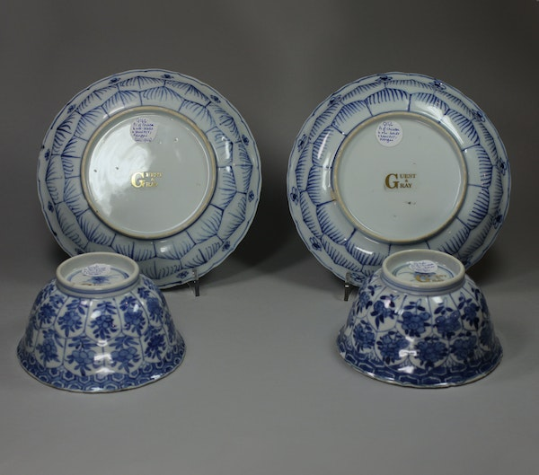 Pair of Chinese blue and white bowls and saucers, Kangxi (1662-1722) - image 2