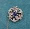 A superb Sapphire & Diamond Foliate Swirl Brooch, Russian, Circa 1900 - image 5
