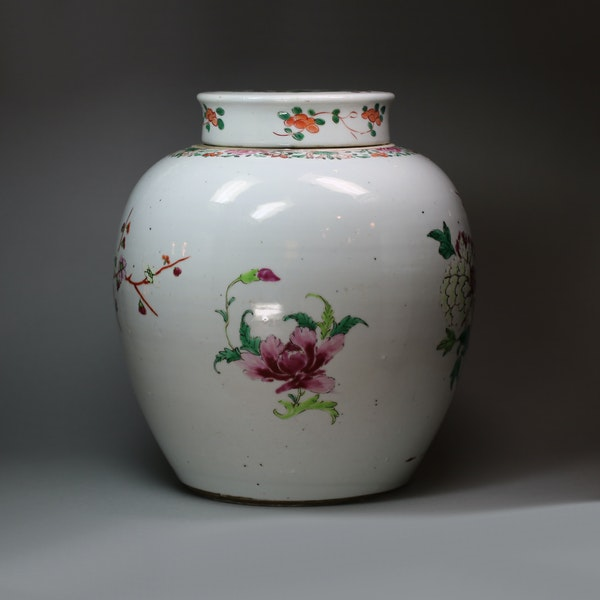 Chinese famille rose ginger jar and cover, Qianlong (1736-95) - image 6