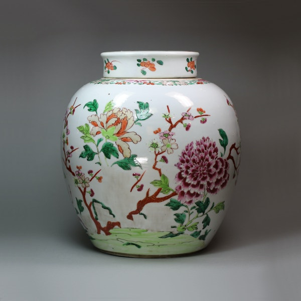 Chinese famille rose ginger jar and cover, Qianlong (1736-95) - image 1