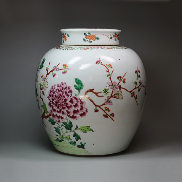 Chinese famille rose ginger jar and cover, Qianlong (1736-95) - image 2