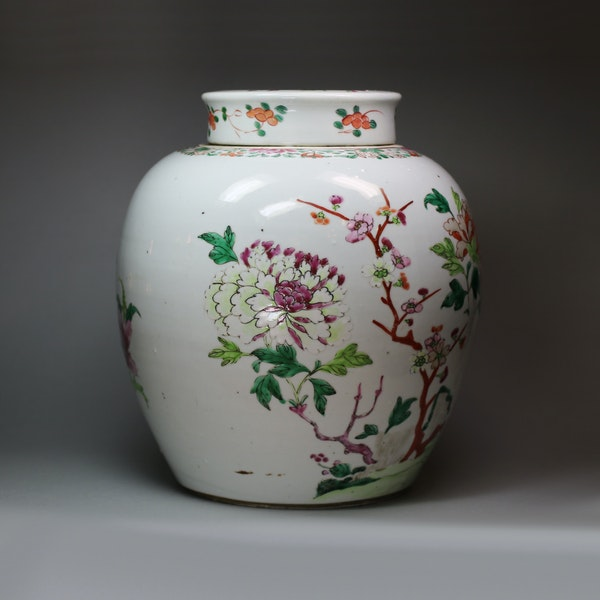 Chinese famille rose ginger jar and cover, Qianlong (1736-95) - image 5