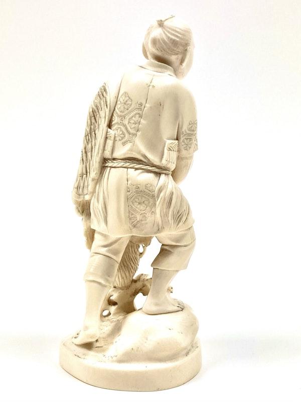 Okimono of fisherman - image 5