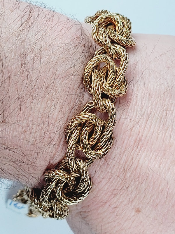 1973 stylish heavy gold bracelet sku 4868  DBGEMS - image 3