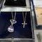 Diamond Cross in 18ct Rose Gold Date circa 1990 SHAPIRO & Co since1979 - image 6