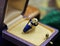 A very fine Diamond and Blue Enamel Mourning Ring set in 18ct Yellow Gold, English, Circa 1850 - image 2