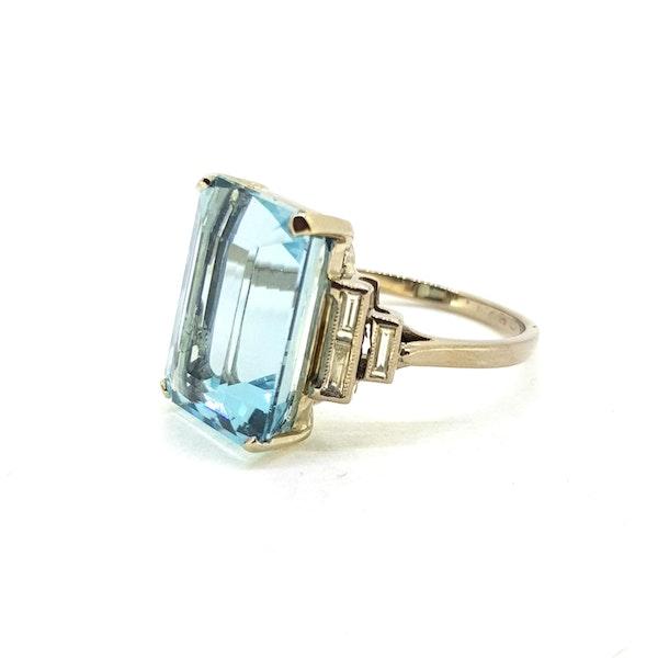 Art Deco Aquamarine ring - image 2