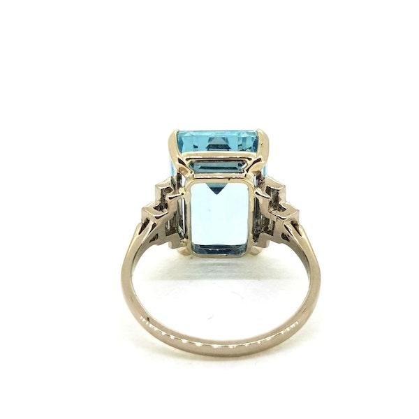 Art Deco Aquamarine ring - image 4
